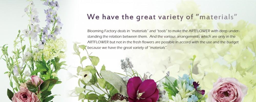 Blooming Factory deals in great range of art flower materials.